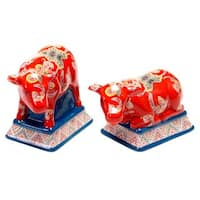 Tracy Porter for Poetic Wanderlust 'French Meadows' 3D Cow Salt and Pepper Set