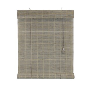 Radiance Millhouse Collection Bamboo Rollup Shade Warm Grey Finish