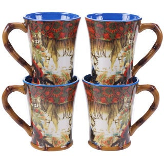 Tracy Porter for Poetic Wanderlust 'Imperial Bengal' 18-ounce Mug (Pack of 4)