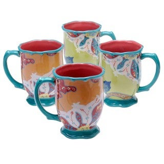 Tracy Porter for Poetic Wanderlust 'Scotch Moss' 18-ounce Mugs (Set of 4)