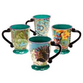 Tracy Porter for Poetic Wanderlust 'Rose Boheme' 16-ounce Mugs (Set of 4)