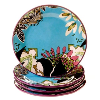 Tracy Porter for Poetic Wanderlust 'Rose Boheme' Earthenware 11-inch Dinner Plates (Pack of 4)