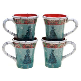 Tracy Porter for Poetic Wanderlust 'Folklore Holiday' 14-ounce Mugs (Pack of 4)