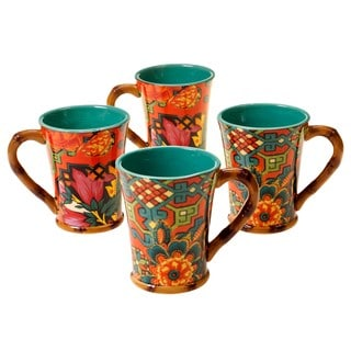 Tracy Porter for Poetic Wanderlust 'Eden Ranch' 18-ounce Mugs (Set of 4)