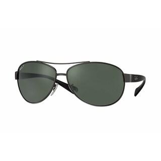 Ray-Ban RB3386 004/9A Gunmetal/Black Frame Polarized Green 63mm Lens Sunglasses