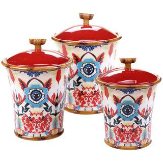 Tracy Porter for Poetic Wanderlust 'Imperial Bengal' Canisters (Set of 3) https://ak1.ostkcdn.com/images/products/14328059/P20907413.jpg?impolicy=medium