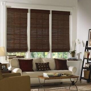 Radiance, Kona Collection Bamboo Roman Shade Mahogany Finish