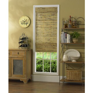 Radiance, Kona Collection Bamboo Roman Shade Natural Finish (5 options available)