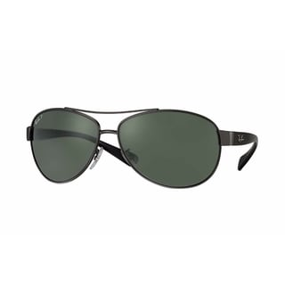 Ray-Ban RB3386 004/9A Gunmetal/Black Frame Polarized Green 67mm Lens Sunglasses