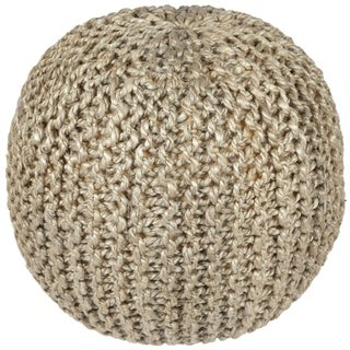 "13"" Jute & Hemp Rope Pouf"