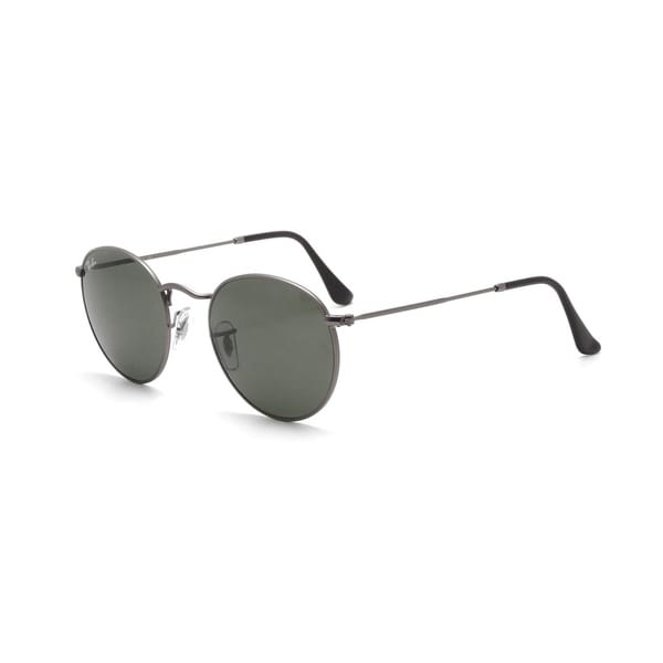 a61ea6a24ef3db Ray-Ban RB3447 029 Round Gunmetal Frame Green Classic 50mm Lens Sunglasses