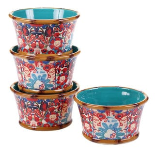Tracy Porter for Poetic Wanderlust 'Imperial Bengal' Earthenware 5.5-inch Ice Cream Bowl (Set of 4)