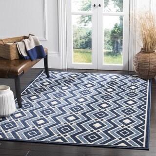 Safavieh Cottage Ivory / Blue Area Rug (3'3 x 5'3)