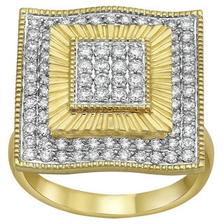 Beverly Hills Charm 14K Yellow Gold 1ct TDW Diamond Ring