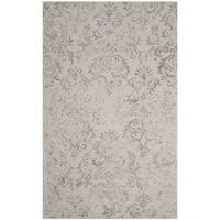 Safavieh Handmade Glamour Damask Scrolls Grey Viscose Area Rug - 5' x 8'