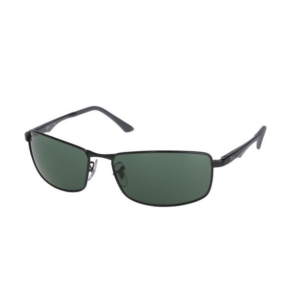 8c02098418b Ray-Ban RB3498 002 71 Black Frame Green Classic 64mm Lens Sunglasses