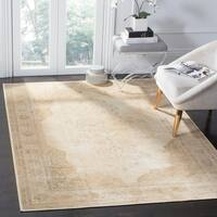 Safavieh Vintage Oriental Cream Distressed Silky Viscose Rug - 6' 7 x 9' 2