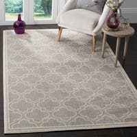 Safavieh Amherst Indoor / Outdoor Light Grey / Ivory Rug - 10' x 14'