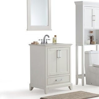 WYNDENHALL Atwood Bath Vanity in White with White Quartz Marble Top in Various Sizes