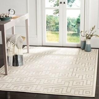 Safavieh Cottage Light Grey / Cream Area Rug (9' x 12')