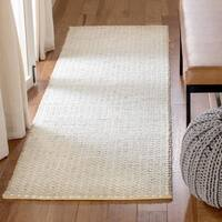 Safavieh Natura Hand-Woven Wool / Bamboo Silk Ivory / Silver Area Rug - 8' x 10'