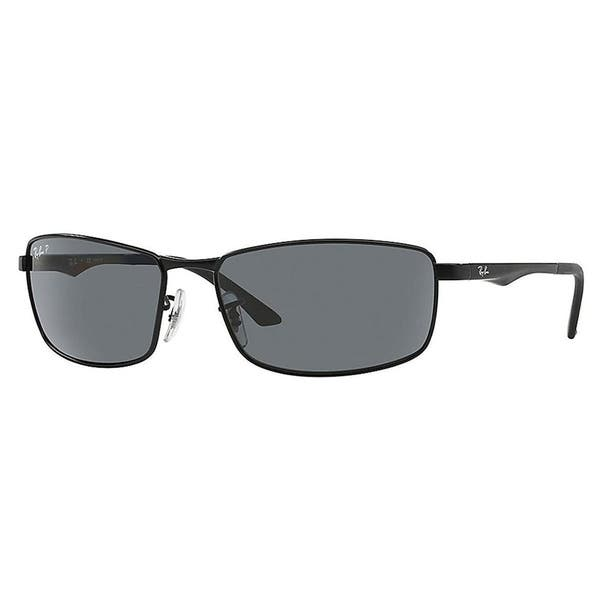 02a40e84109 Ray-Ban RB3498 006 81 Black Frame Polarized Grey Gradient 61mm Lens  Sunglasses