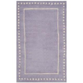 Safavieh Bella Contemporary Handmade Lavender / Ivory Wool Rug (2' 6 x 4')