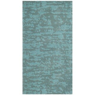 Safavieh Hand-Woven Marbella Flatweave Blue / Turquoise Chenille Rug - 2' x 4'