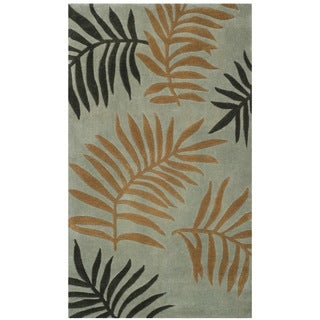 Safavieh Total Performance Handmade Contemporary Fern Blue / Multi Rug (2' x 3')