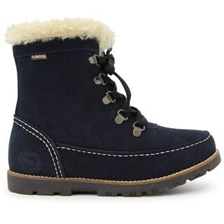 Lamo Women's Taylor Blue Suede Fur-lined Ankle Boots