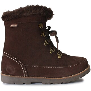 Lamo Taylor Chocolate-colored Faux Fur/Suede Boots