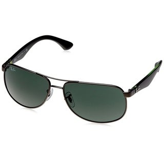 Ray-Ban RB3502 029 Gunmetal/Black/Green Frame Green Classic 61mm Lens Sunglasses