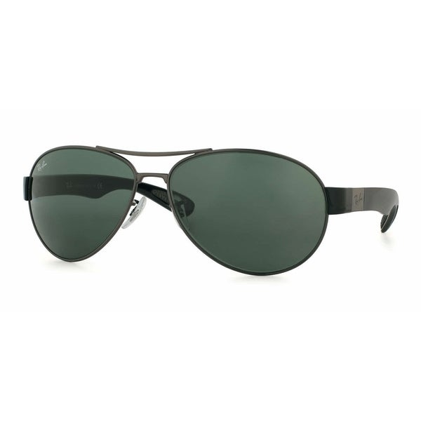 5a2bc9f70c Ray-Ban RB3509 004 71 Gunmetal Black Frame Green Classic 63mm Lens  Sunglasses