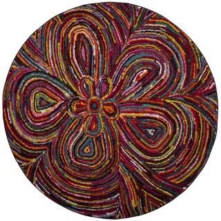 Safavieh Aruba Mintie Boho Abstract Rug (67 x 67 Round - Multi)