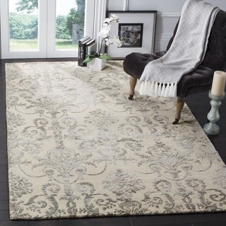 Safavieh Hand-Woven Bella Contemporary Ivory / Grey Wool Rug (5' Square)