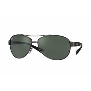 Ray-Ban RB3509 004/9A Gunmetal/Black Frame Polarized Green 63mm Lens Sunglasses