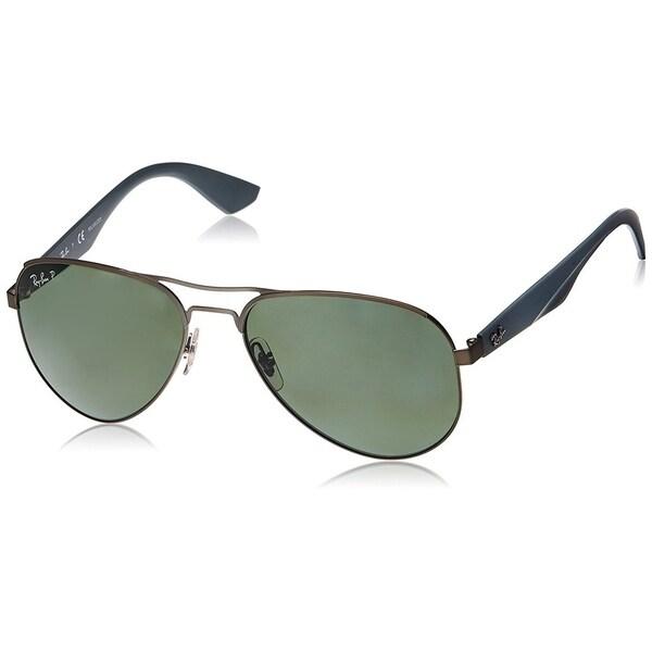 6eb2383c55 Ray-Ban RB3523 029 9A Gunmetal Grey Frame Polarized Green 59mm Lens  Sunglasses