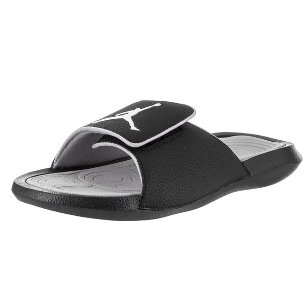 d0e94af34 ... inexpensive nike jordan menx27s jordan hydro 6 black leather sandals  6f63a 84648