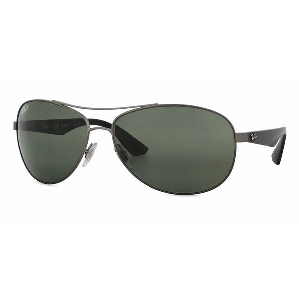 9a6be259e0c Ray-Ban RB3526 029 9A Gunmetal Black Frame Polarized Green 63mm Lens  Sunglasses