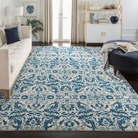Safavieh Evoke Vintage Ivory / Blue Distressed Rug - 6' 7 Square