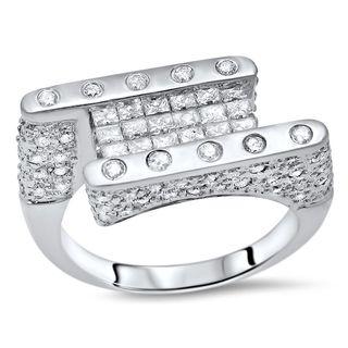 Noori 14k White Gold 1 3/4 CT Princess Cut Diamond Ring Band (SI2-I1/H-I)