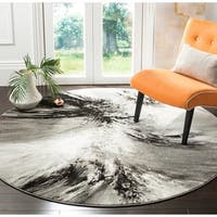 Safavieh Glacier Contemporary Abstract Grey / Multi Area Rug - 6' 7 Round