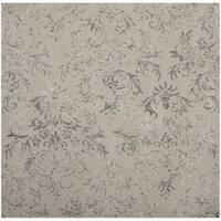 Safavieh Handmade Glamour Damask Scrolls Grey Viscose Area Rug - 6' Square