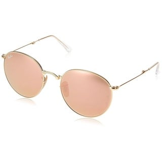 Ray-Ban RB3532 001/Z2 Round Metal Folding Gold Frame Copper Flash 50mm Lens Sunglasses