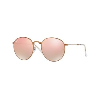 Ray-Ban RB3532 198/7Y Round Metal Folding Bronze-Copper Frame Copper Gradient Flash 50mm Lens Sunglasses
