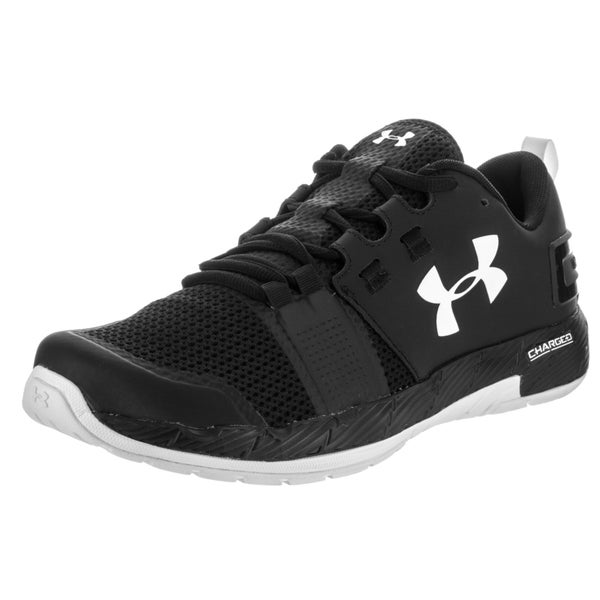 Under Armour Men's Commit Tr Black and White Synthetic Leather Training Shoe
