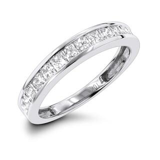 Luxurman 10k White Gold 1ct TDW Diamond Wedding Band (H-I, SI2-I1)