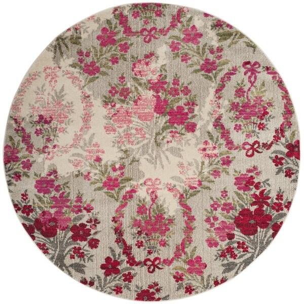 Safavieh Monaco Vintage Floral Bouquet Ivory Pink