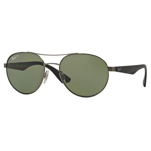 Ray-Ban RB3536 029/9A Gunmetal/Black Frame Polarized Green 55mm Lens Sunglasses