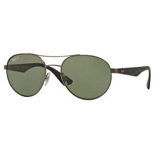 Ray-Ban RB3536 029/9A Gunmetal/Black Frame Polarized Green 55mm Lens Sunglasses